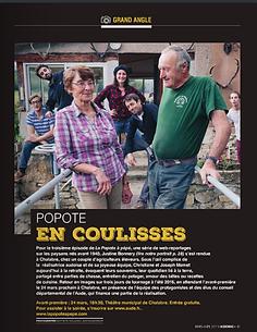 Portrait de Justine Bonnery la réalisatrice de La Popote à pépé dans le magazine AudeMag Carcassonne