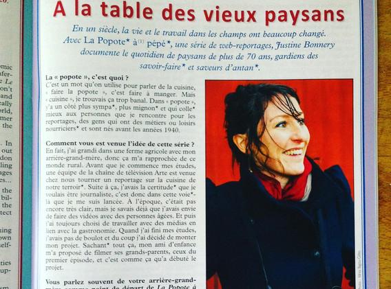 Interview de Justine Bonnery journaliste La Popote à pépé