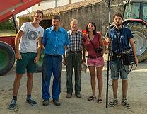 Équipe de l'épisode #2 des web-reportages de La Popote à pépé à Saint-Gaudéric (Aude).