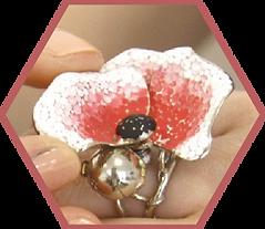 Poppy flower ring