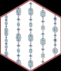 Aquamarine, blue sapphire & diamond necklaces