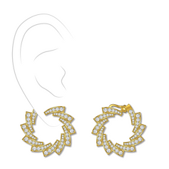 Earrings : diamond