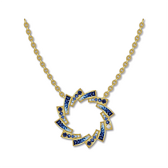 Pendant : blue sapphires