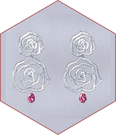 Piaget - Pink sapphire & diamond earrings