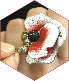Poppy flower ring