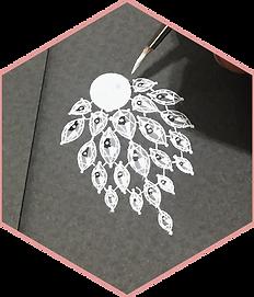 Artinian - pearl & diamond earring