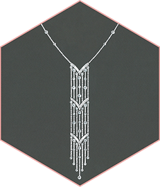 Sartoro - diamond necklace
