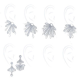 Earrings sketches
