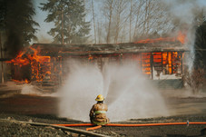 Controlled Structure Burn - April 2021