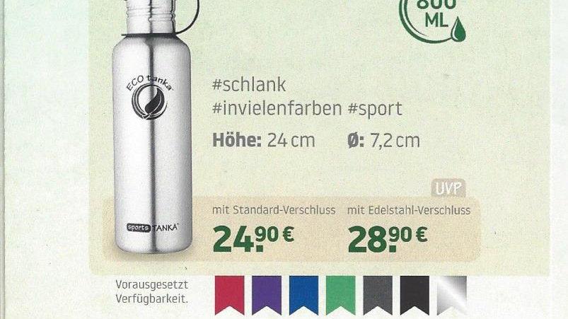 Edelstahlflasche, sportsTanka, 800 ml