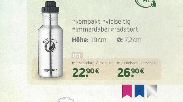 Edelstahlflasche miniTanka, 600 ml