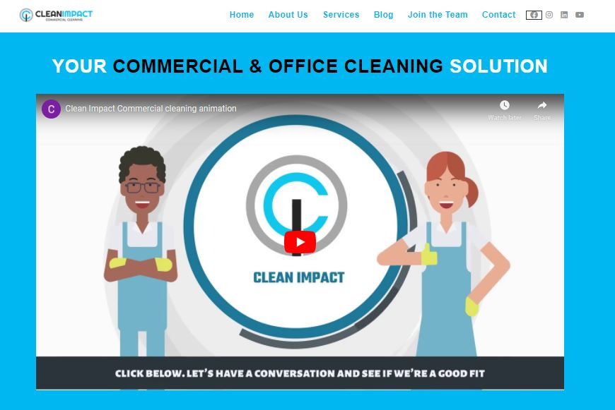 Clean Impact || Your Commercial + Office Cleaning Solution