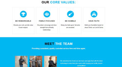 Clean Impact Core Values + Team Members