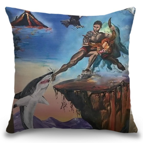 """Manly Man"" Pillow"