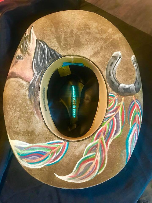 Hand Painted Cowboy Hat