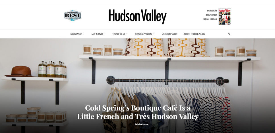 Cold Spring's Boutique Café Is a Little French and Très Hudson Valley
