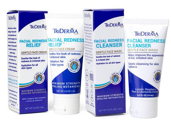 Facial Redness Cleanser 14gr & Moisturizer 14gr – Bundle