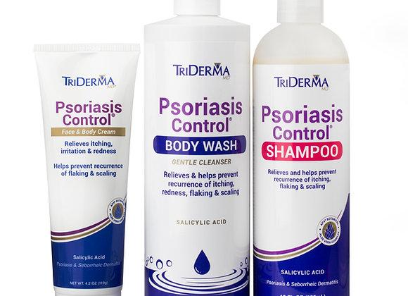 Psoriasis Control® Cream + Shampoo +Body wash  Bundle