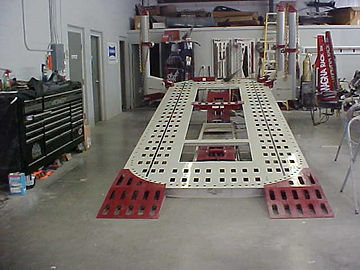 Olson Auto Body's state-of-the-art frame alignment rack