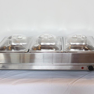 Heated 3 station buffet server