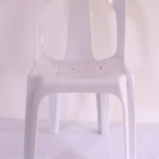 White Bistro Chairs (supports up to 180kg)