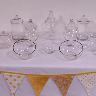 Glass lolly buffet set