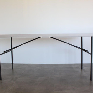 1.8 metre White Trestle tables (seats max 8 people)