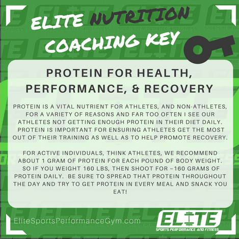 NUTRITION TIP: Protein for Health, Performance, & Recovery