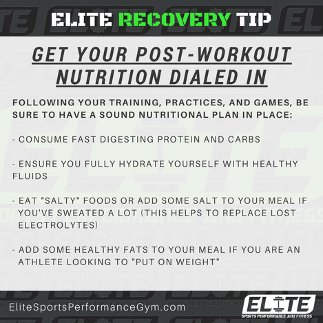 Elite Coaching 🔑 Key  RECOVERY: Get Your Post-Workout Nutrition Dialed In