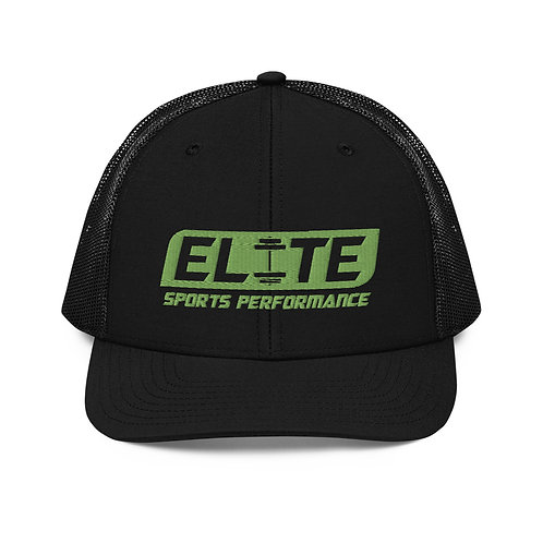Snapback Trucker Hat (Black/Green)