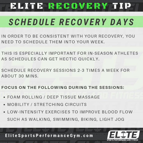 Elite Coaching 🔑  RECOVERY TIP: Schedule Your Recovery Days