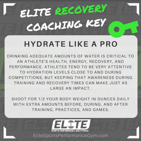 RECOVERY TIP: Hydrate Like A Pro