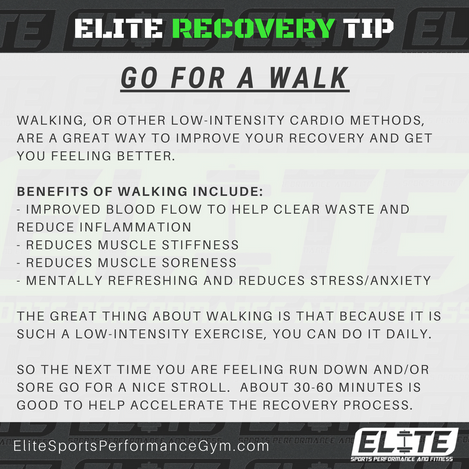Elite Coaching 🔑 Key  RECOVERY: GO FOR A WALK