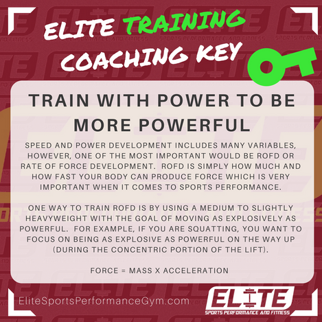 TRAINING TIP: Train With Power to Be More Powerful