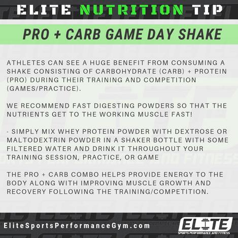 Elite Coaching 🔑  NUTRITION TIP