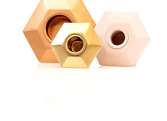 Ensemble chandelier géométrique