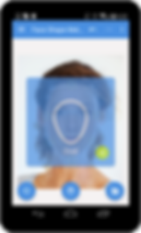face shape meter app with zoomed picture on phone and tablet