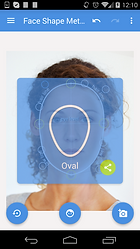oval face shape result on mobile screen