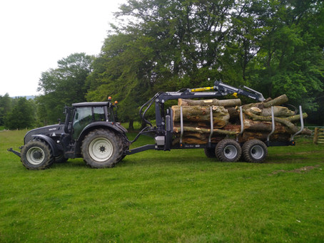 Agriforest's new crane trailer arrives