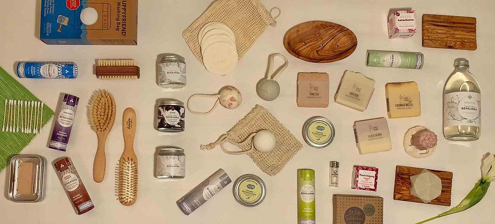Produkte für ein plastikfreies Badezimmer