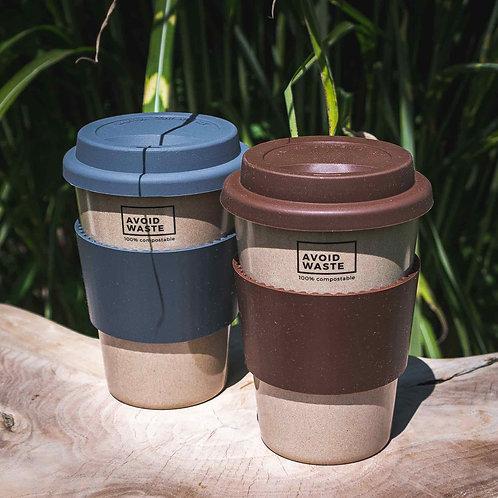 Kaffeebecher aus Reishülsen von Avoidwaste