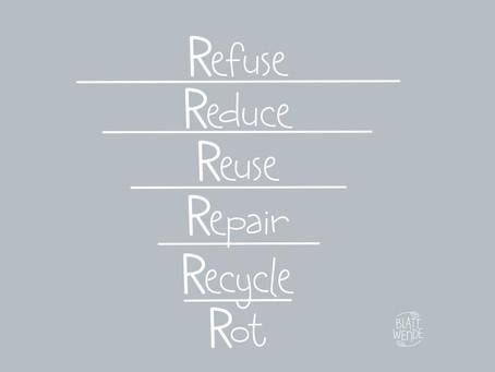 Die 6 'R's für ein nachhaltiges Leben