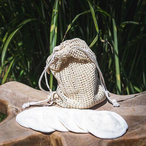 Waschbare Abschminkpads aus Bambus 6er-Set