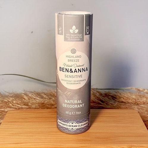 """Sensitive Deodorant """"Highland Breeze"""" von Ben& Anna"""