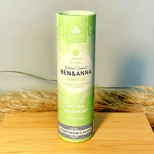 "Sensitive Deodorant ""Lemon and Lime"" von Ben&Anna"