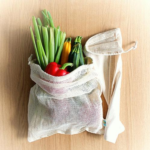 Obst- und Gemüsenetz aus Biobaumwolle