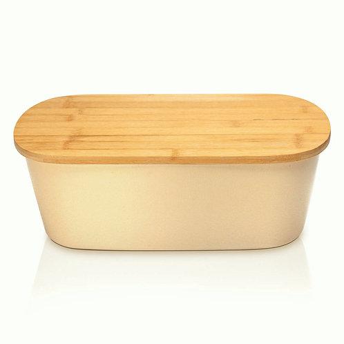 Umweltschonende Brotbox mit passendem Deckel aus Bambus