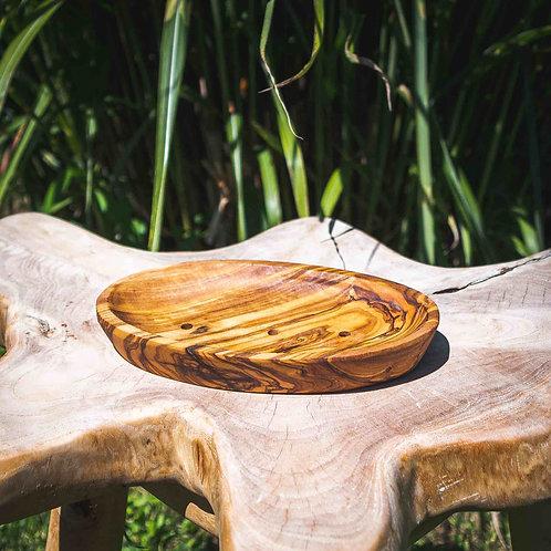 Seifenschale aus Olivenholz