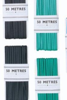 Black Silk Braid 6mm x 50M Superior silken braid (717179)