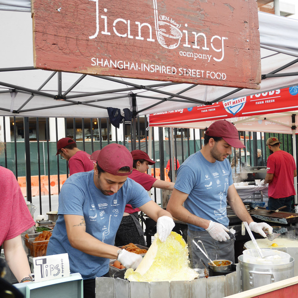 Jianbing, food producer at Hana Commercial Kitchens in Brooklyn